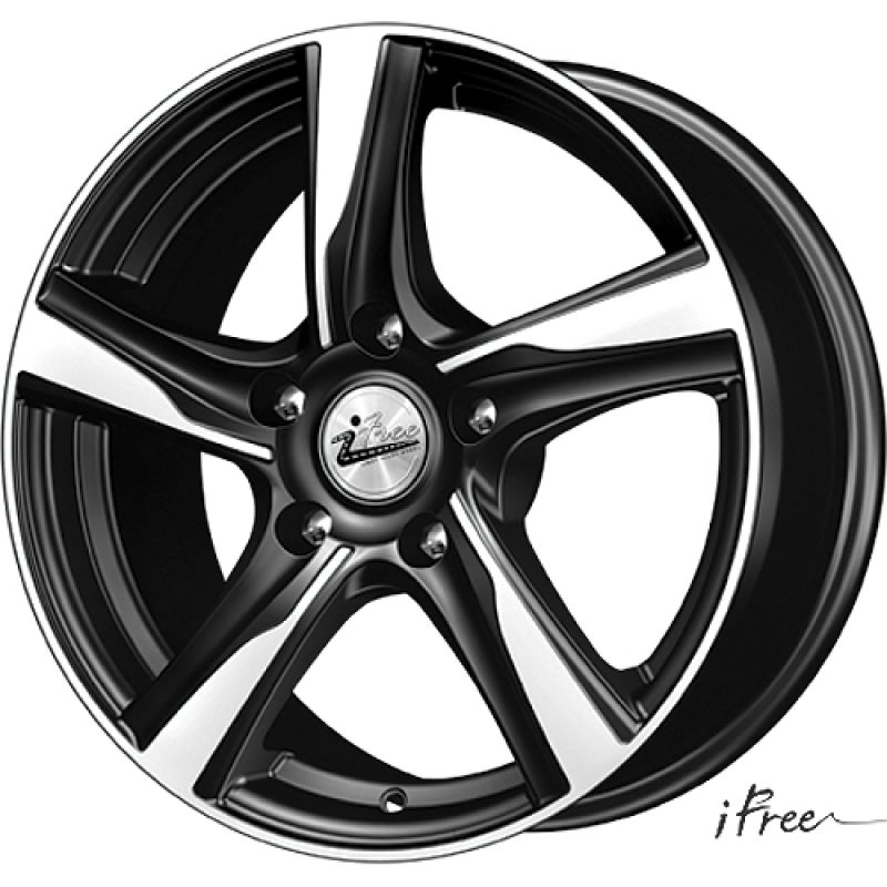 iFree KC686-mb Kait 16x7.0 5x114.3 ET40 DIA66.1 Black Jack / Черный с полировкой