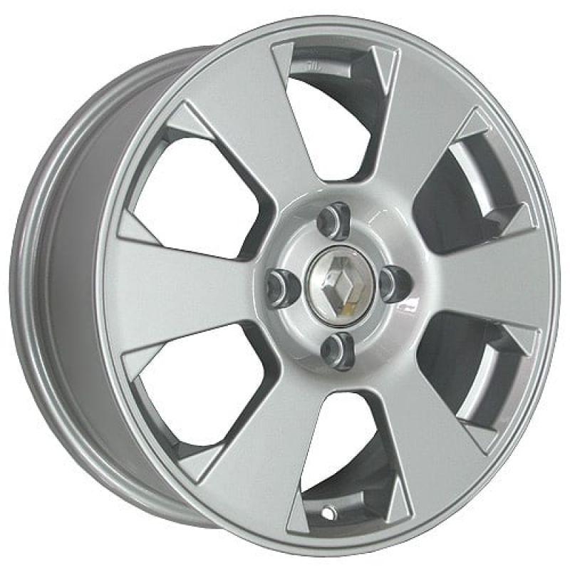 K&K KC718 Logan 15x6.0 4x100 ET40 DIA60.1 Silver / Серебристый