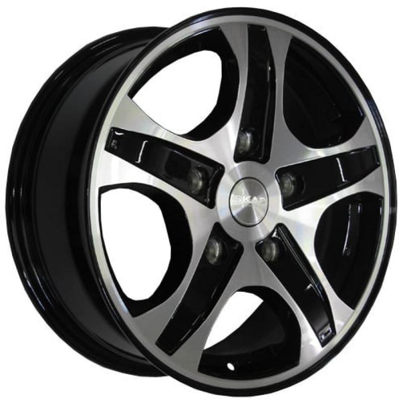 SKAD Calipso-mb 16x6.5 5x130 ET43 DIA84.2 Black Glossy Polished / Черный глянец с алмазной проточкой