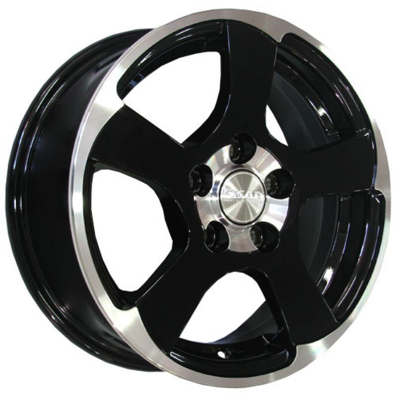 SKAD Shark-mb 14x5.5 4x108 ET35 DIA67.1 Black Glossy Polished / Черный глянец с алмазной проточкой